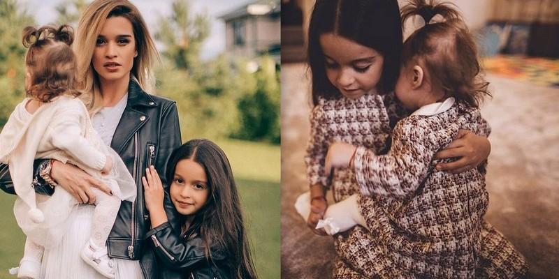 Toate trei pe copertă! Ksenya Borodina apare alături de fiice într-un pictorial frumos (Foto)