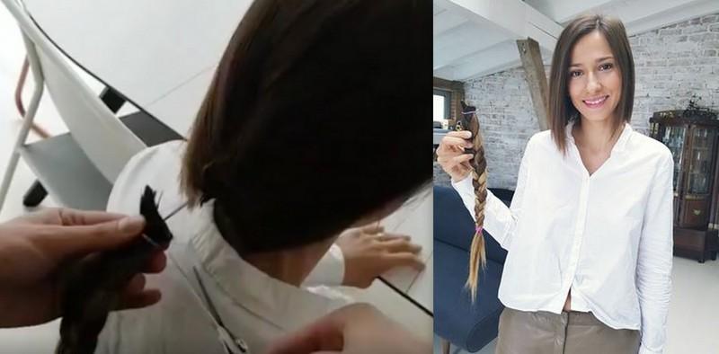 Dana Rogoz și-a tăiat părul în direct, apoi a donat cosița! Așa îi stă tunsă scurt (Video)
