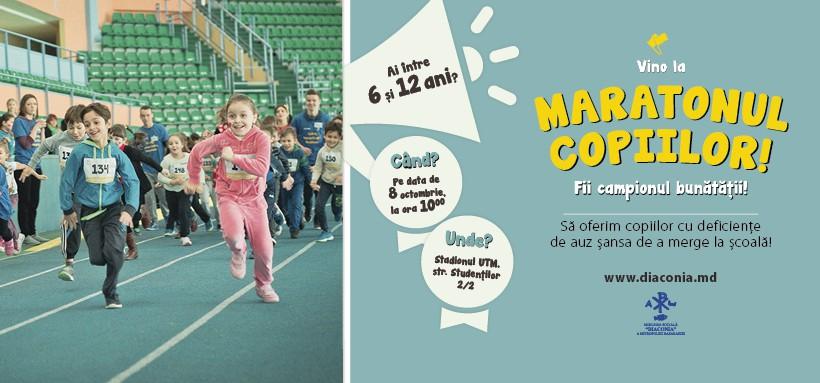Maratonul Copiilor – înscrie copilul tău în cursa bunătății!