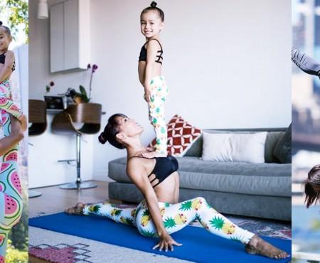 Ce acrobații execută acasă, cu copiii săi, o gimnastă din familia Cirque Du Soleil