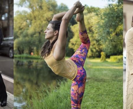 Antrenoarea de pilates Masha Vîhori a devenit model pentru un brand autohton