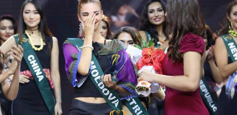 Încă un titlu pentru Moldova! Tatiana Ovcinicova aduce acasă un premiu de la Miss Earth