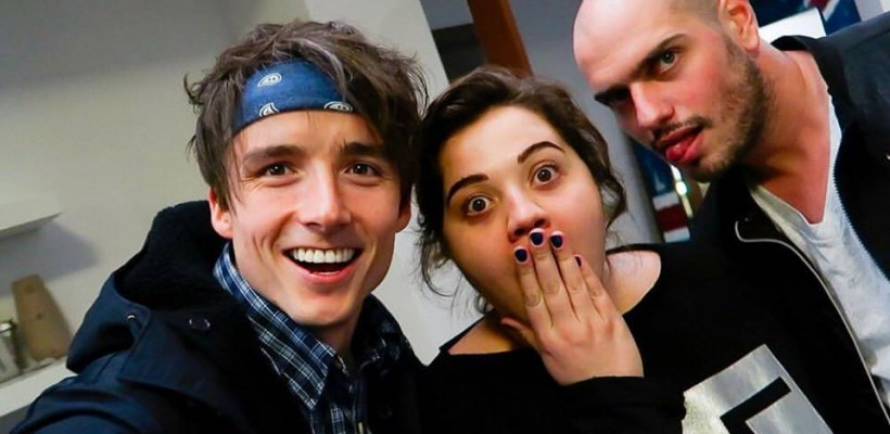 """Vor face """"nebunie""""! Vlogerii Ruxy și Ilie, colaborează cu cel mai popular român pe internet, Matei-Dima (Video)"""