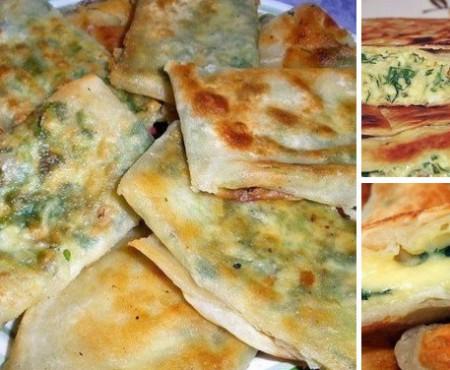 Perfect pentru cină: plicuri din chefir și brânză, preparate pe tigaie