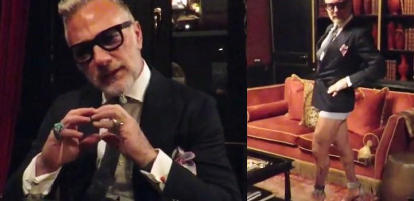 Vestimentația e amăgitoare! Italianul Gianluca Vacchi s-a filmat într-un nou clip haios (Video)