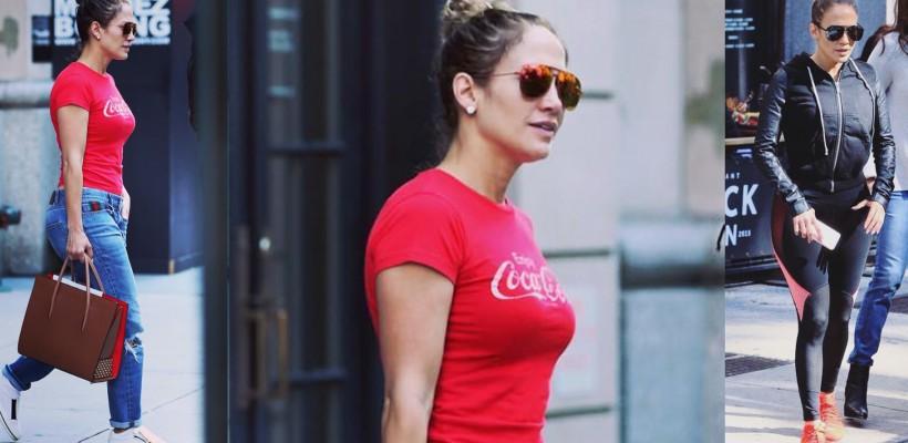 Fără fițe de divă! Ce haine poartă Jennifer Lopez la simplele ieșiri în oraș (Foto)