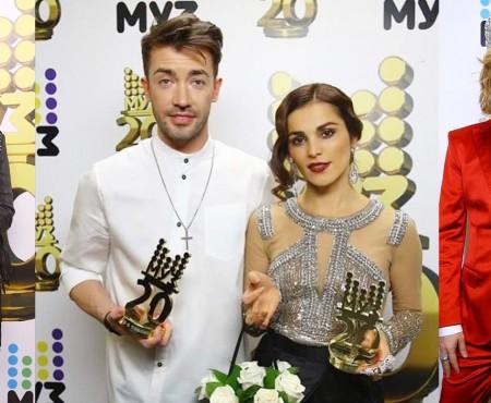 Vedetele din lumea muzicii rusești au sclipit la aniversarea Muz TV. Printre ele, și un basarabean!