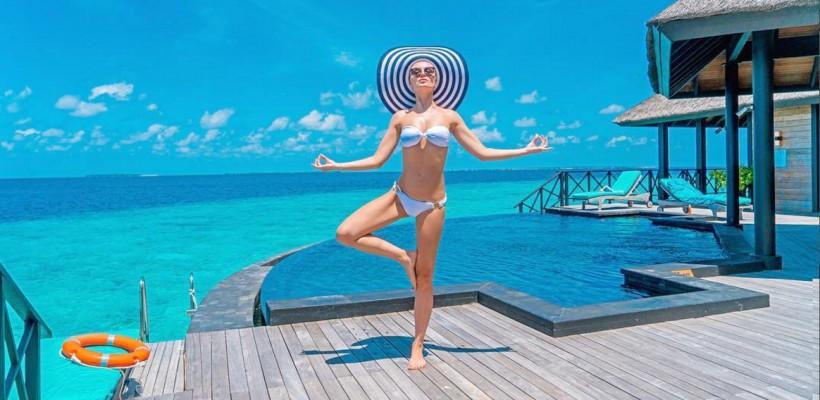 Maldivele sunt slăbiciunea ei. Polina Gagarina, într-o nouă escapadă exotică (Foto)