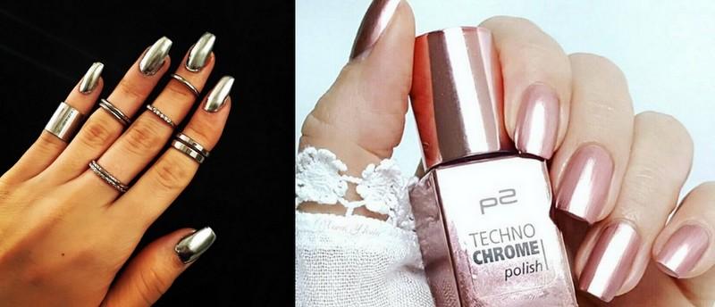 Femeile din Instagram, înnebunite după manichiură cu ojă metalică (Foto)