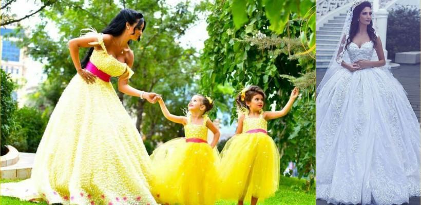 Nu rochii, dar motive de fericire! Admiră ținutele unei celebre creatoare de modă din Beirut