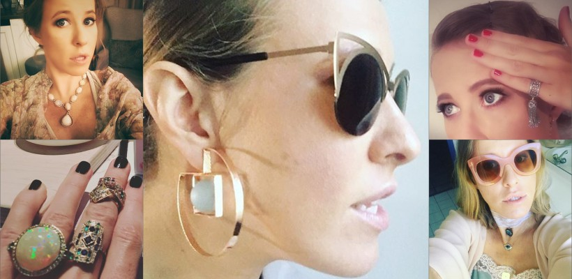 Kseniya Sobchak – o mare iubitoare de bijuterii. Una din ele e dedicată fiului