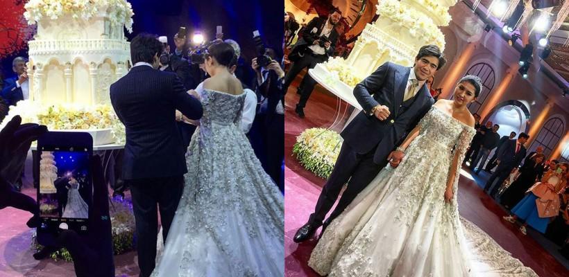 Fiica unui milionar tadjic a jucat o nuntă cu 900 de invitați. Rochia a costat o avere (Foto)