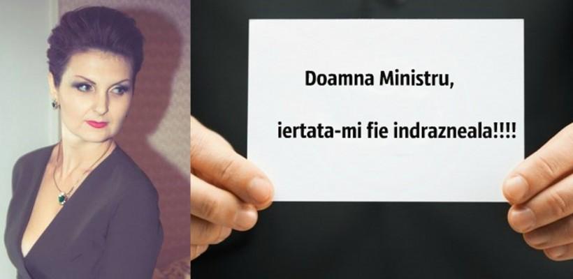 """O mămică îi transmite ministrei Fusu """"Scrisoarea care nu va ajunge la destinație"""""""