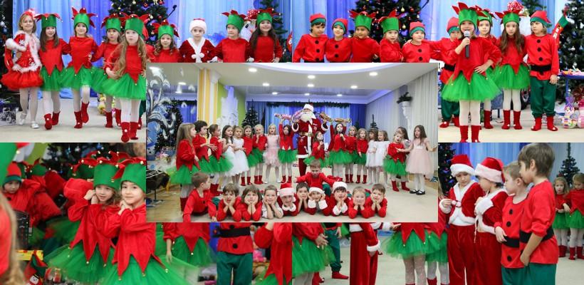 Atmosferă de poveste la o grădiniță din capitală! Zeci de copii au primit darurile mult așteptate de la Moș Crăciun (FOTO)