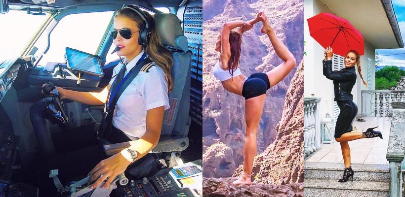 O tânără-pilot de 29 de ani cucerește internauții cu felul în care arată (Foto)