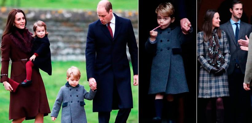 Prinții George și Charlotte, surprinși în timpul primei lor slujbe religioase de Crăciun (FOTO)