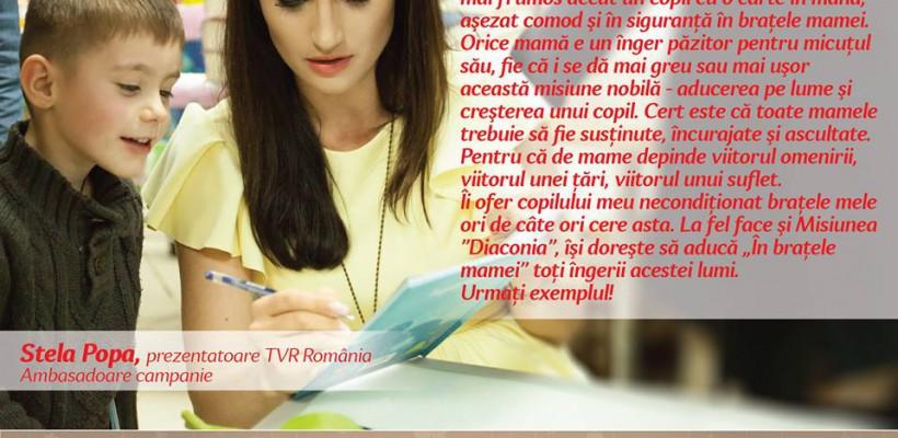 """Mai multe personalități publice au devenit ambasadoarele Campaniei """"În brațele mamei"""" (Foto)"""
