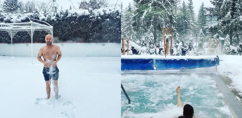 Imagini de poveste surprinse de vedetele autohtone! Zăpada de afară i-a făcut să se simtă din nou copii (FOTO)