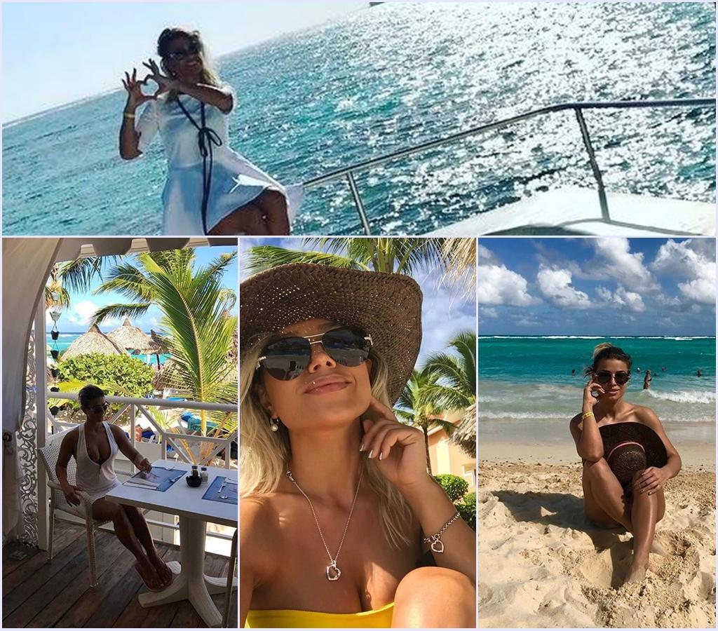 Natalia Colesnic dansează aprins pe un iaht din Caraibe (Video)