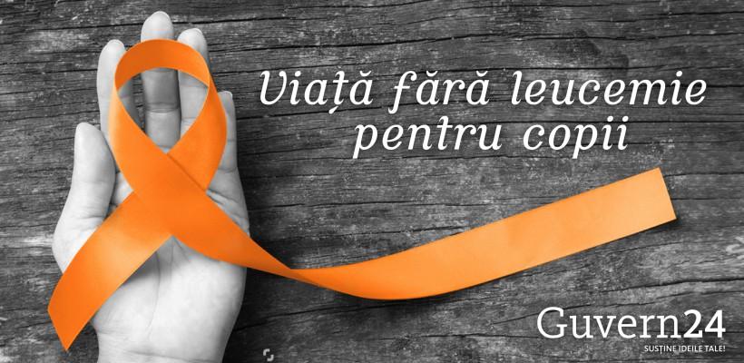 """Asociația  """"Viață fără leucemie"""" ajută copiii bolnavi de cancer să se trateze"""