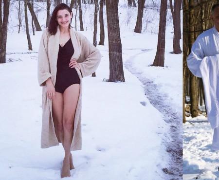 """Lilia Ojovan, desculță prin omăt, către Igor Dodon: """"Domn' Președinte, fără tapociki slabo?"""""""