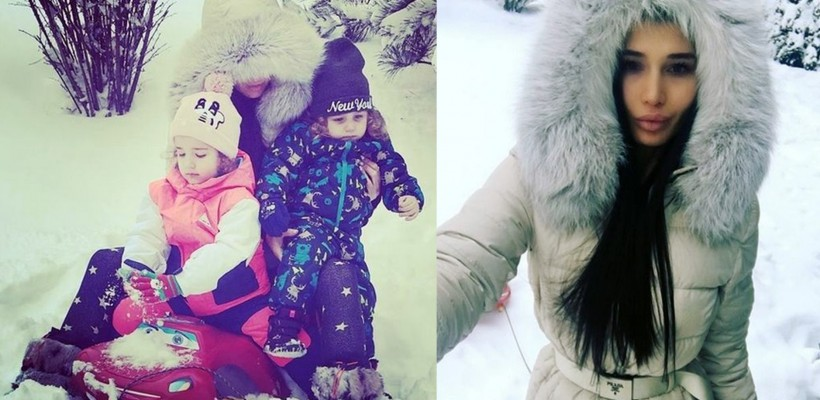 """""""Single Mom"""": Elena Băsescu se bucură de nămeți alături de copii (FOTO)"""