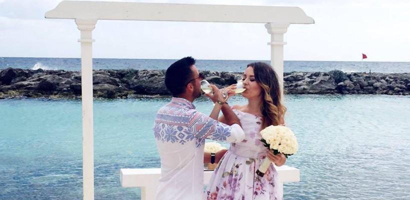 Gabi Marcu și Cristina Evtodii au făcut nuntă în Mexic (Foto)