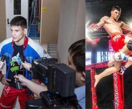 Un băiat de 17 ani, cu origini basarabene, a obținut victorie la un campionat rusesc de Arte Marțiale Mixte
