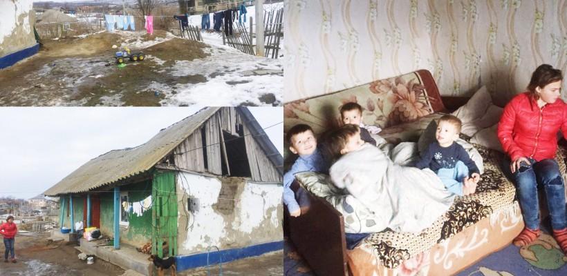 10 frați de la Țânțăreni locuiesc în condiții sumbre, îndurând zilnic foame și frig. Cum îi putem salva