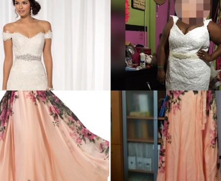 Ce au comandat și ce au primit! Zeci de femei dezamăgite după achiziționarea rochiilor de pe internet (FOTO)