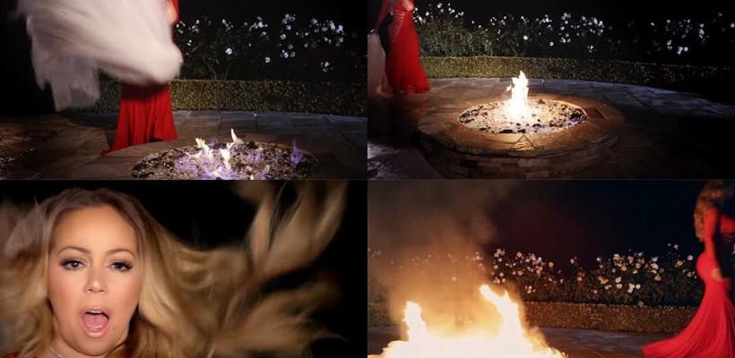 După despărțirea de miliardarul australian, Mariah Carey și-a incendiat rochia de mireasă! (VIDEO)