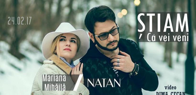 """Un duet neașteptat în industria muzicală autohtonă! NATAN și Mariana Mihăilă lansează de Dragobete piesa """"Știam că vei veni"""""""