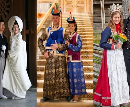 Nu în toate colțurile lumii miresele poartă alb. Vezi cum arată cele mai neobișnuite rochii tradiționale de mireasă