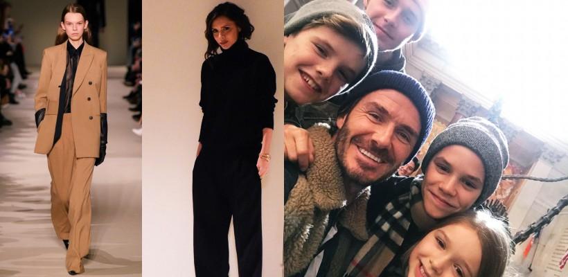 Victoria Beckham și-a scos pe podium o nouă colecție de haine și a avut familia aproape la New York