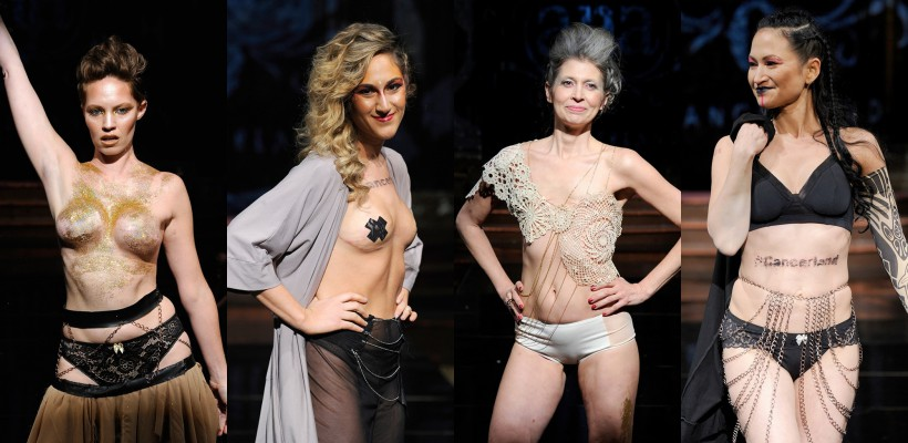 16 femei cu mastectomie au defilat topless la Săptămâna Modei de la New York (FOTO)