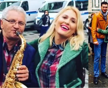 """Dianna Rotaru, surprinsă cântând """"Trandafir de la Moldova"""" pe una din străzile Florenței (VIDEO)"""