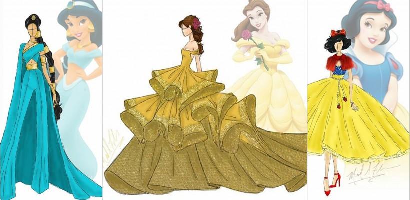 Când un designer se apucă de reinventat rochiile prințeselor din povești (FOTO)