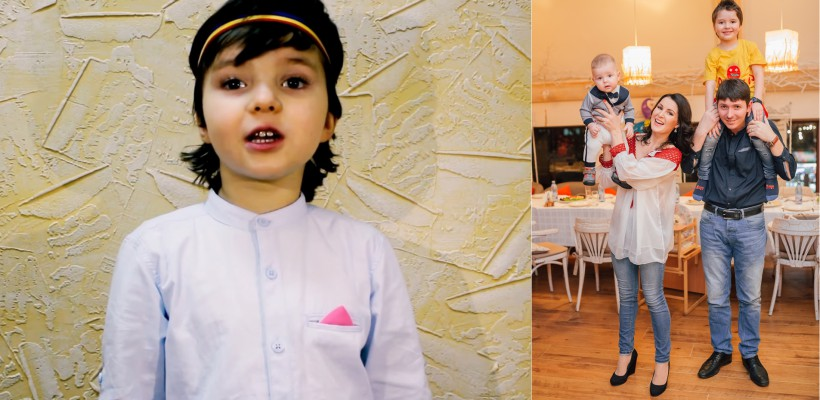 De Dragobete, fiul Aurei Revenco își exprimă iubirea față de părinți, recintând o poezie de A. Păunescu