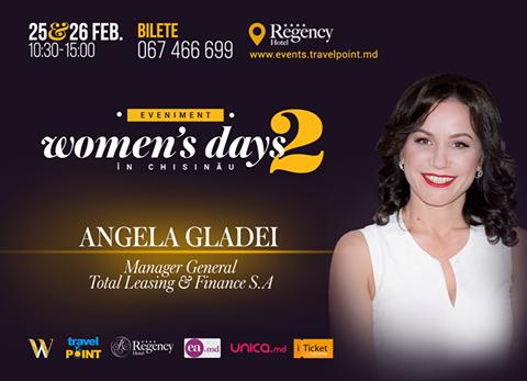 """Angela Gladei vine la Women's Days in Chișinău. """"O situație de stres este ca săritul cu parașuta"""" (Video)"""