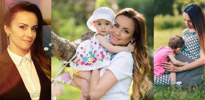 Lucia Roșca, de trei ani, mama unei fetițe adorabile! Vezi cât de mare s-a făcut Emma