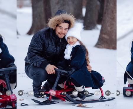 Din nou tată? Interpretul Valentin Uzun își dorește un frățior pentru fiica sa, Amelia