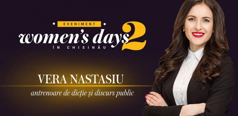 Vera Nastasiu descoperă secretele dicției perfecte la Women's Days in Chișinău