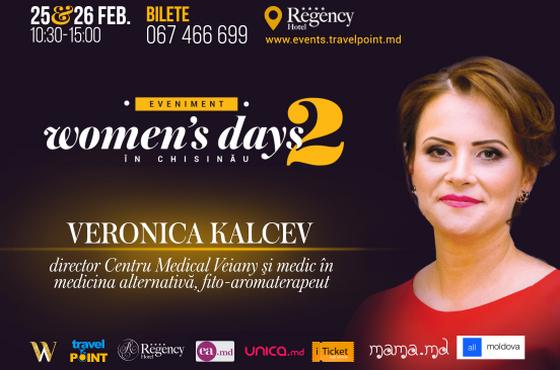 Despre remediile naturiste și efectele lor miraculoase, cu Veronica Kalcev la Women's Days in Chișinău