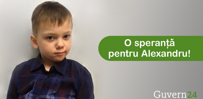 O donație – o speranță pentru Alexandru