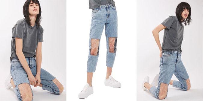 """Blugii de mamă, într-o nouă versiune, """"păstrează genunchii uscați în timpul băiței copilului"""""""