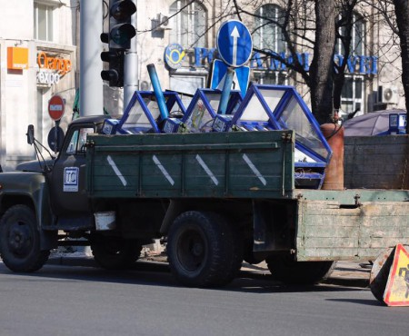 Poza zilei: Telefoanele publice sunt scoase din centrul capitalei