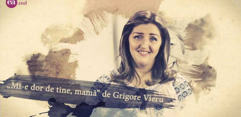 """Aliona Triboi readuce publicului o poezie cu un mesaj profund: """"A venit aseară mama"""" (Video)"""