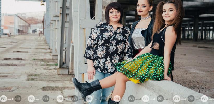 Provocare acceptată! Ionela, Carolina și Victoria Țăruș, în rolul uneia dintre cele mai excentrice interprete de peste Prut (FOTO)