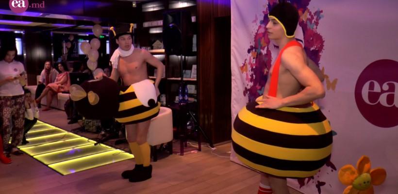 Burlăcițele își pot distra invitatele la petrecere cu ajutorul albinuțelor cu mușchi (Video)