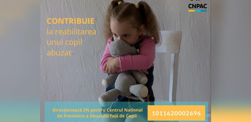 De ce să direcționezi 2% din impozitul pe venit către Centrul Naţional de Prevenire a Abuzului faţă de Copii